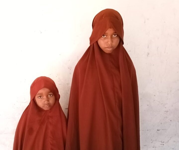 Two of Our Girls Studying in Desert Near Ethiopia